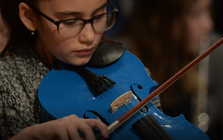 Students come together to make beautiful music (Photo credit: The Telegram/Joe Gibbons